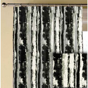 Clarke and Clarke BW1038 Black and White Made to Measure Curtains