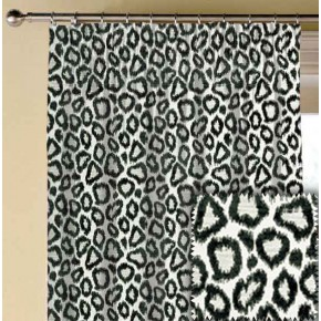 Clarke and Clarke BW1039 Black and White Made to Measure Curtains