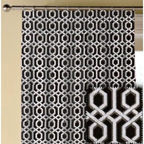 Clarke and Clarke BW1042 Black and White Made to Measure Curtains