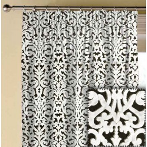 Clarke and Clarke BW1043 Black and White Made to Measure Curtains