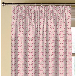 Clarke and Clarke  Colony Cabana Fuchsia Made to Measure Curtains