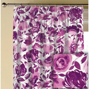 Clarke and Clarke Artbook Caitlin Linen Passion Made to Measure Curtains