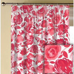 Clarke and Clarke Artbook Caitlin Linen Raspberry Made to Measure Curtains