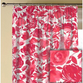 Clarke and Clarke Artbook CaitlinVelvet Raspberry Made to Measure Curtains