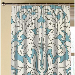 Clarke and Clarke Chateau Chateau Aqua Made to Measure Curtains