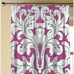 Clarke and Clarke Chateau Chateau Fuchsia Made to Measure Curtains