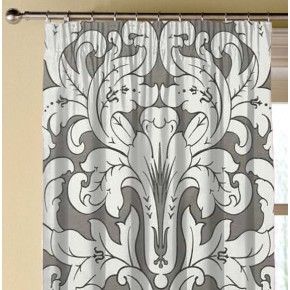 Clarke and Clarke Chateau Chateau Smoke Made to Measure Curtains