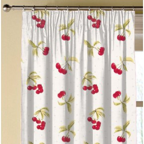 Clarke and Clarke Blighty Cherries Chintz Made to Measure Curtains