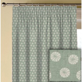 Clarke and Clarke Cariba Daiquiri Aqua Made to Measure Curtains