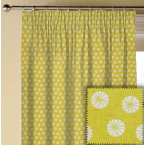 Clarke and Clarke Cariba Daiquiri Chartreuse Made to Measure Curtains