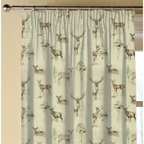 Clarke and Clarke Countryside Deer Linen Made to Measure Curtains
