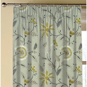 Clarke and Clarke Halcyon Delamere Chartreuse Made to Measure Curtains