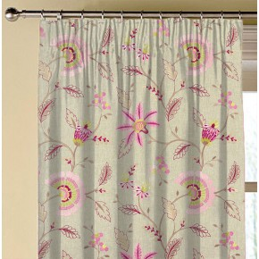 Clarke and Clarke Halcyon Delamere Raspberry Made to Measure Curtains