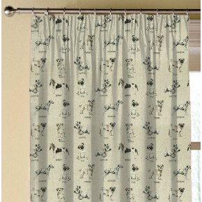 Clarke and Clarke Countryside Dogs Linen Made to Measure Curtains