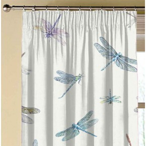 A Village Life  Dragon Flies  Cream  Made to Measure Curtains