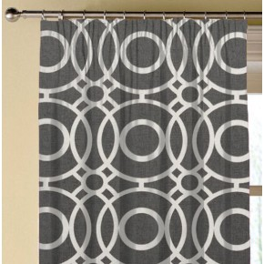 Clarke and Clarke Folia Eclipse Charcoal Made to Measure Curtains