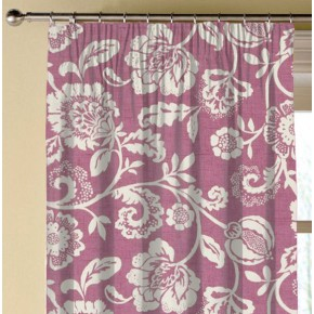 Clarke and Clarke Genevieve Eliza Mulberry Made to Measure Curtains