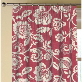 Clarke and Clarke Genevieve Eliza Raspberry Made to Measure Curtains