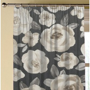 Clarke and Clarke Folia Elodie Charcoal Made to Measure Curtains