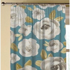Clarke and Clarke Folia Elodie Teal Made to Measure Curtains