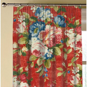 Clarke and Clarke  Colony Emeline Rouge Made to Measure Curtains