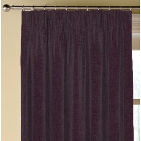 Prestigious Textiles Finlay Aubergine Made to Measure Curtains