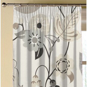 Clarke and Clarke Folia Folia Charcoal Made to Measure Curtains