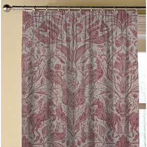 Country Garden Forest Trail Raspberry Made to Measure Curtains