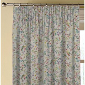Country Garden Forget Me Not Linen Made to Measure Curtains