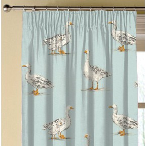 Clarke and Clarke Blighty Geese Duckegg Made to Measure Curtains