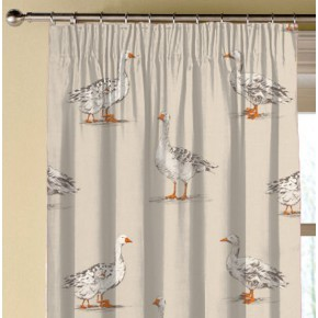 Clarke and Clarke Blighty Geese Natural Made to Measure Curtains