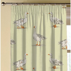 Clarke and Clarke Blighty Geese Sage Made to Measure Curtains