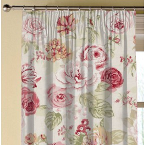 Clarke and Clarke Genevieve Clarke and Clarke Genevieve OldRose Made to Measure Curtains