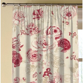 Clarke and Clarke Genevieve Clarke and Clarke Genevieve Raspberry Made to Measure Curtains