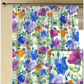 Clarke and Clarke Artbook Giselle Linen Violet Made to Measure Curtains