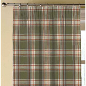Clarke and Clarke Glenmore Clarke and Clarke Glenmore Olive Made to Measure Curtains