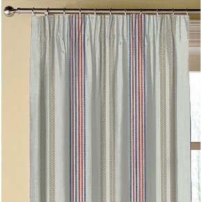 Clarke and Clarke  Colony Grenada Taupe/Rouge Made to Measure Curtains