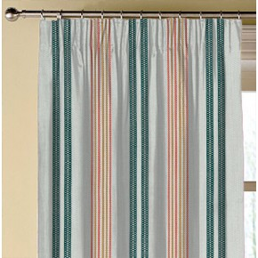 Clarke and Clarke  Colony Grenada Teal/Spice Made to Measure Curtains