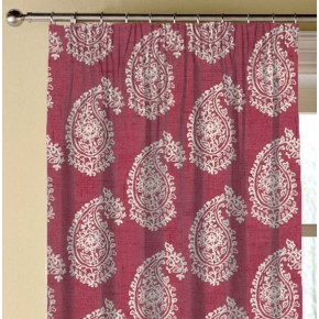 Clarke and Clarke Genevieve Harriet Raspberry Made to Measure Curtains