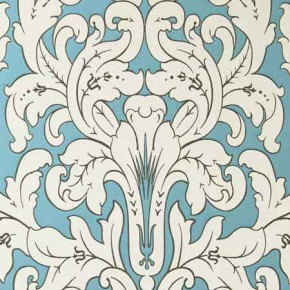 Clarke and Clarke Chateau Chateau Aqua Curtain Fabric