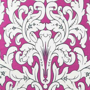 Clarke and Clarke Chateau Chateau Fuchsia Curtain Fabric