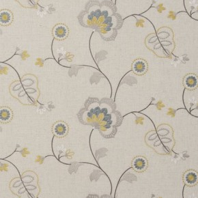 Clarke and Clarke Manorhouse Chatsworth Acacia Made to Measure Curtains