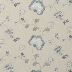 Clarke and Clarke Manorhouse Chatsworth Chambray Curtain Fabric