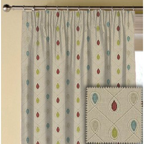 Clarke and Clarke Richmond Healey RaspberryDuckegg Made to Measure Curtains