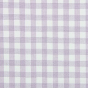 Marina Check Lavender Curtain Fabric