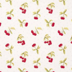 Clarke and Clarke Blighty Cherries Chintz Curtain Fabric