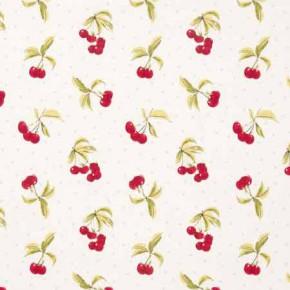 Clarke and Clarke Blighty Cherries Chintz Curtain Fabric