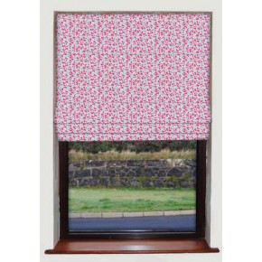 Cherry Tree Pink Roman Blind