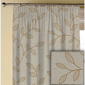 Clarke and Clarke Richmond Hetton Caramel Made to Measure Curtains