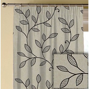 Clarke and Clarke Richmond Hetton Charcoal Made to Measure Curtains